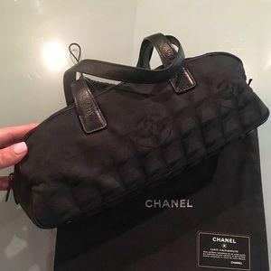 CHANEL Black Nylon Travel Line Bowler bag.